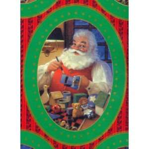 Christmas Gift Wrap   Santa with Rag Doll & Toys Toys & Games