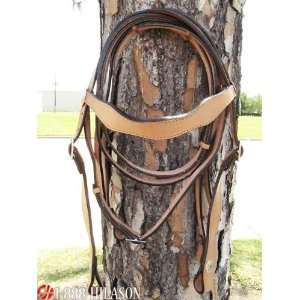 Western Leather Tack Horse Bridle/headstall With Reins