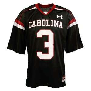 Under Armour South Carolina Gamecocks #3 Black Replica Football
