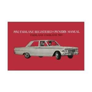 1962 FORD FAIRLANE Owners Manual User Guide Automotive