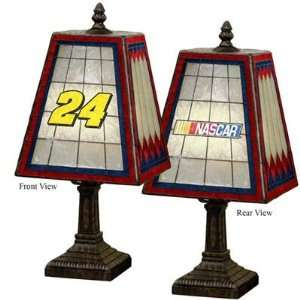 Jeff Gordon NASCAR 14 Art Glass Table Lamp Sports