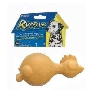 JW Pet Company Tough By Nature Ruffians Chicken Small Dog Toy Assorted