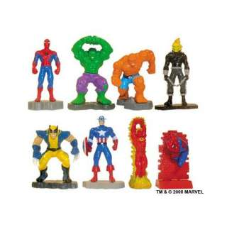 Marvel Super Hero Mini Figure Set   Set of 8 Vending