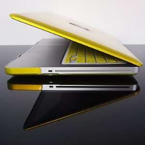 TopCase Metallic Solid Yellow Hard Case Cover for Latest Macbook Pro