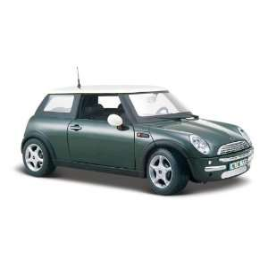 Maisto Die Cast 124 Scale Metallic Green Mini Cooper Toys & Games