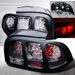 1994 1998 Ford Mustang Led Tail Lights Black Automotive