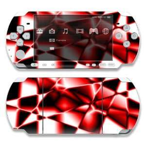 Sony PSP 1000 Skin Decal Sticker  Abstract Red Reflection
