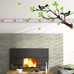 Birds on Tree Branch removable Vinyl Mural Art Wall Sticker Wall Decal