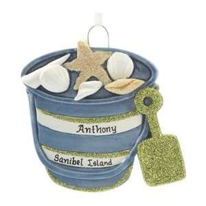 Personalized Sand Pail Christmas Ornament