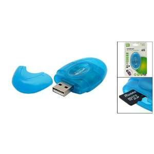 Gino USB 2.0 SD MMC T Flash Micro SD Card Reader Writer Electronics