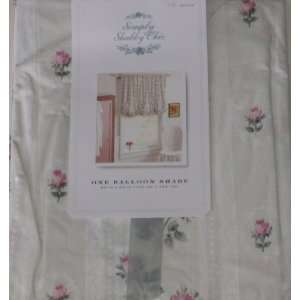 Shabby Chic Pink Rose Balloon Shade Floral Window Curtain 63