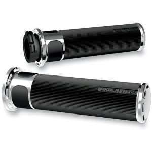 Arlen Ness Chrome Slot Track Fusion Grips For Various Harley Davidson