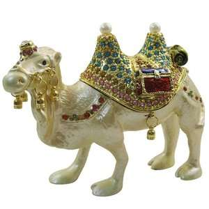 Camel  Bejeweled Swarovski Crystal diamond Jewelry Trinket Box