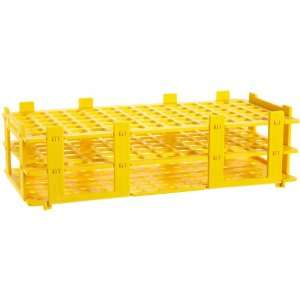 4340003 13mm 84 Tubes Yellow Polypropylene Test Tube Rack, 6 x 14 Tube