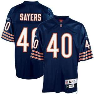 Bears #40 Gale Sayers Navy Blue Tackle Twill Throwback Football Jersey