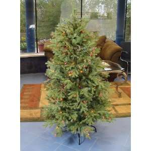 4.5 Pre Lit White Pine Fir Artificial Christmas Tree