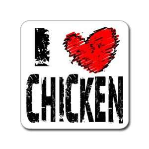 I Love Heart CHICKEN   Window Bumper Laptop Sticker