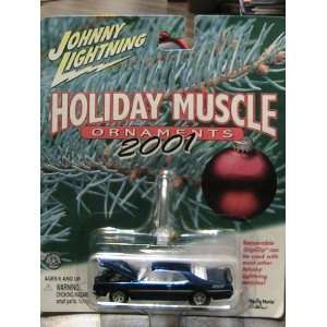 Johnny Lightning 2001 Holiday Muscle Ornaments Blue 70