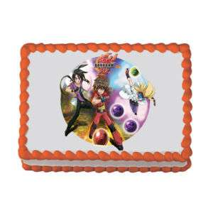 Personalizable BAKUGAN Theme Edible Cake Topper Image