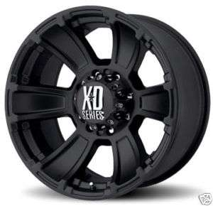 20 XD XD796 REVOLVER Wheels & TIRES Black OFFROAD RIMS