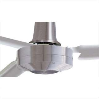 Emerson Fans 48 Heat Industrial Ceiling Fan in Brushed Steel