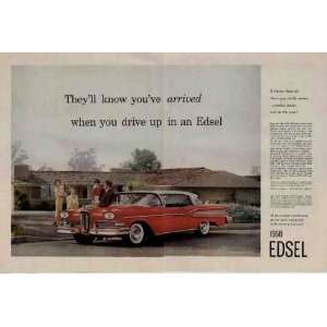 in an Edsel.  1958 Ford Edsel Citation 2 door Hardtop Ad, A4333