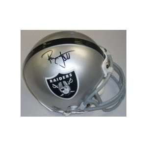 Ronnie Lott Autographed Oakland Raiders Replica Mini Football Helmet