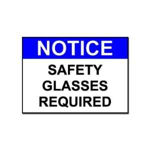 Safety Glasses Required   Business Sign   Car, Truck, Notebook, Vinyl