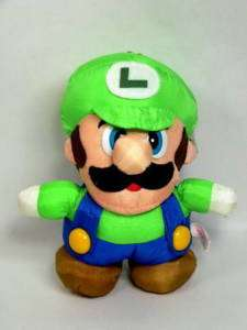 Super Mario World Luigi Soft Plush   Japanese Doll
